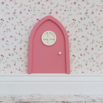 Pink pixy door with illuminated window