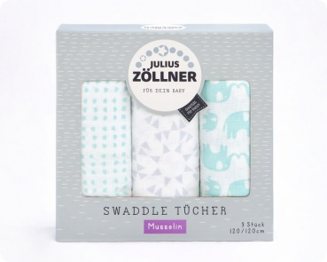Swaddles Elephant mint