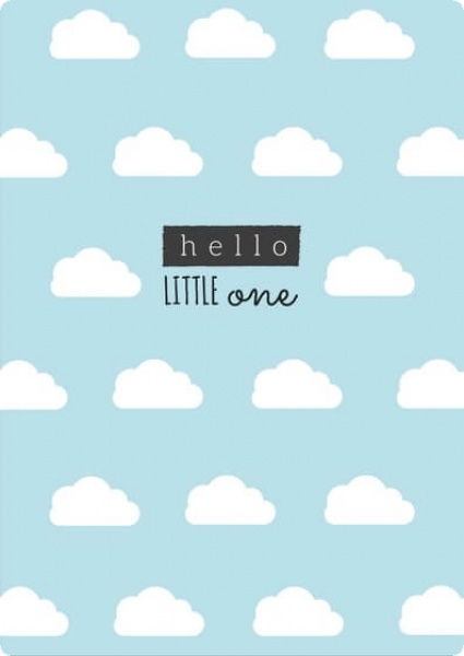 Hello little one - Blau