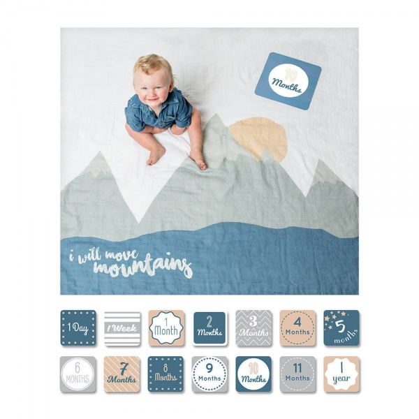 Swaddle-Blanket & Card Set - I will move mountains