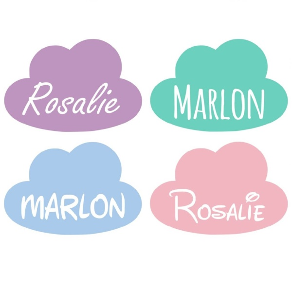 Baby's name cloud sticker