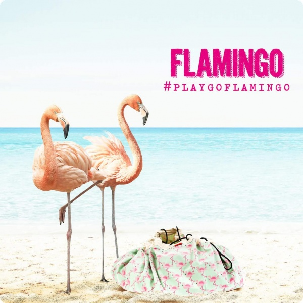 Toy Storage Bag Flamingo