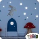 Wall Sticker Bunny and Stars